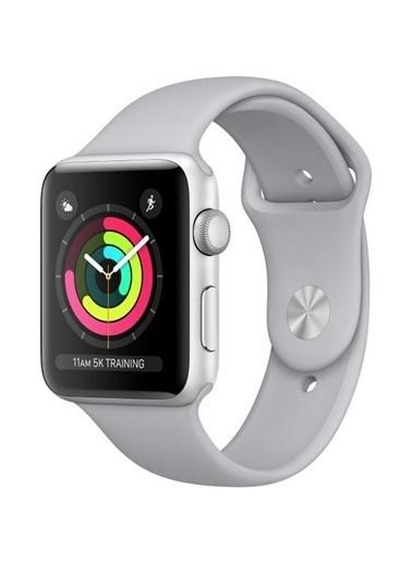 Watch Series 3 GPS 38 mm Gümüş Rengi Alüminyum Kasa Puslu Gri Spor Kordon-Apple